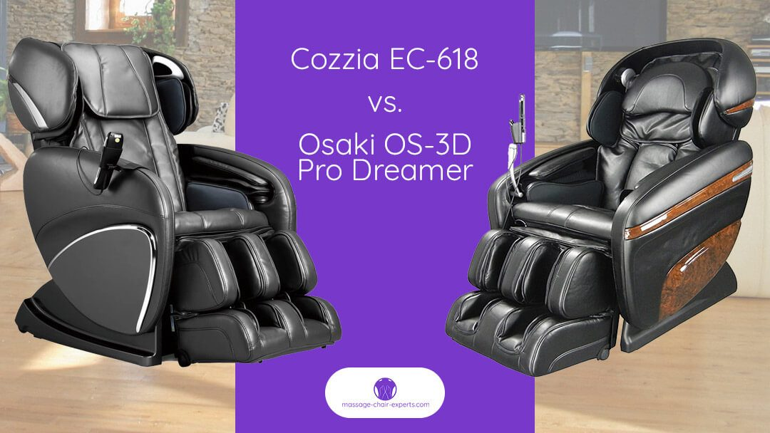 Cozzia EC 618 VS Osaki 3D Pro Dreamer Massage Chair Comparison