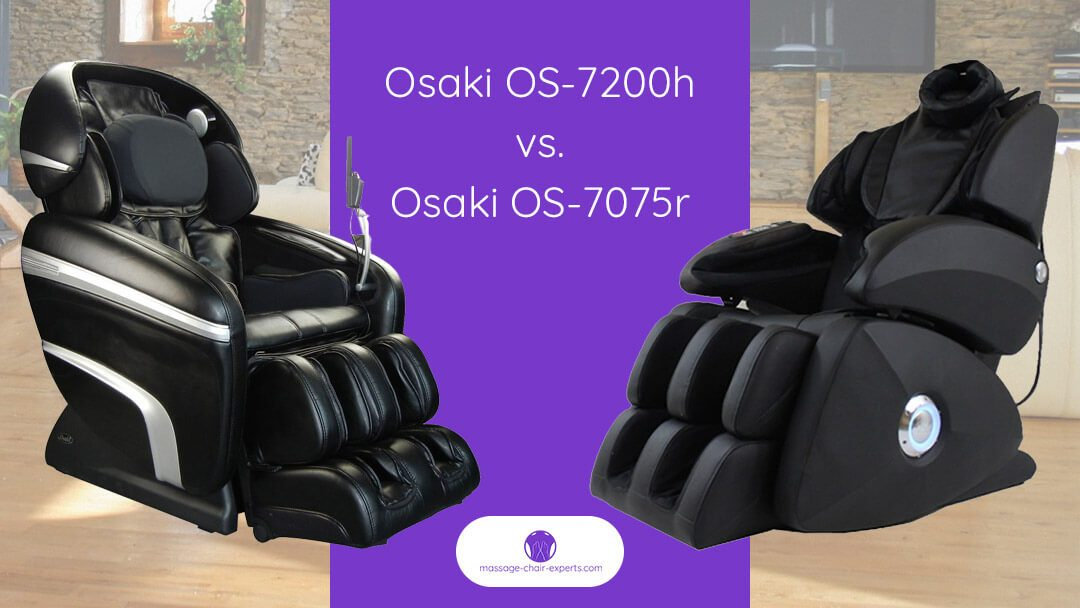 Osaki OS-7200H vs Osaki OS-7075R  | Which Massage Chair to Buy?